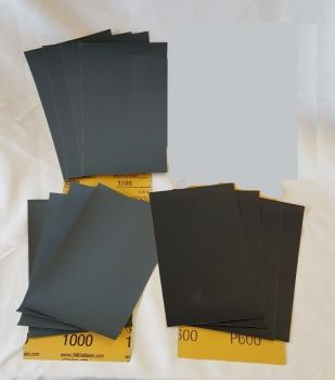 Hand Sandpaper - Wet/Dry Sandpaper - Assortment